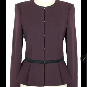 Hugo Boss Jeisana Textured Peplum Jacket